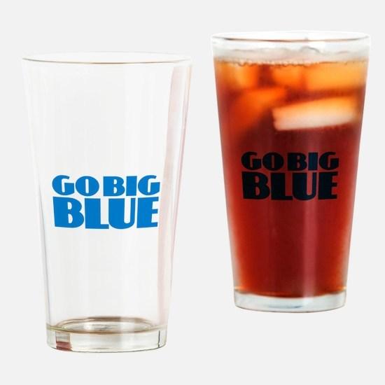 Go Big Blue Drinking Glass