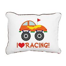 I Heart Racing Rectangular Canvas Pillow