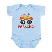 I Heart Racing Infant Bodysuit