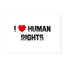 I * Human Rights Postcards (Package of 8)
