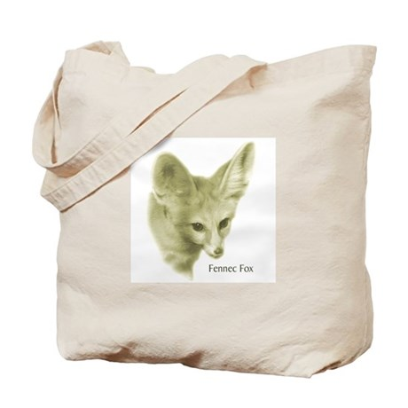 Antiqued Fennec Fox Tote Bag