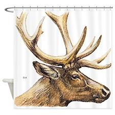 Elk Animal Shower Curtain