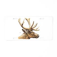 Elk Animal Aluminum License Plate