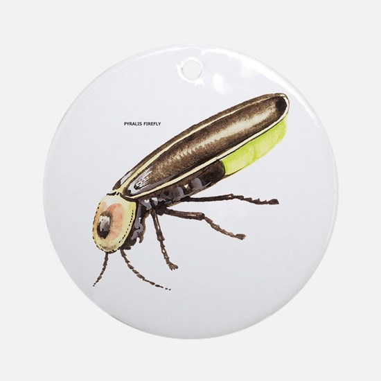 Pyralis Firefly Insect Ornament (Round)