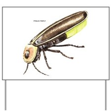 Pyralis Firefly Insect Yard Sign