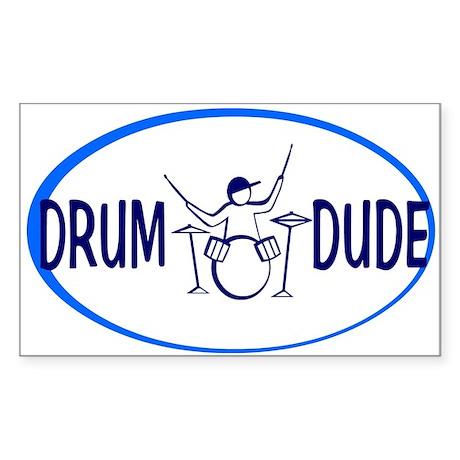 Drum Dude Oval Sticker