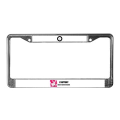SUPPORT BREAST CANCER RESEARCH License Plate Frame