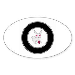 SUPPORT BREAST CANCER RESEARCH Oval Decal