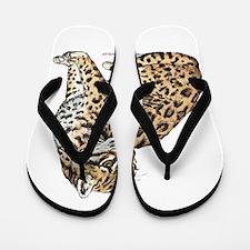 Ocelot Wild Cat Flip Flops