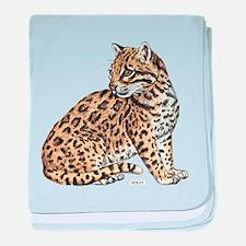 Ocelot Wild Cat baby blanket