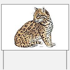 Ocelot Wild Cat Yard Sign