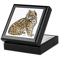 Ocelot Wild Cat Keepsake Box