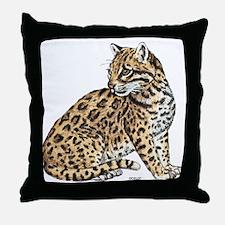 Ocelot Wild Cat Throw Pillow