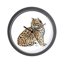Ocelot Wild Cat Wall Clock