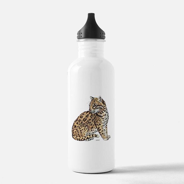 Ocelot Wild Cat Water Bottle
