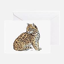 Ocelot Wild Cat Greeting Card