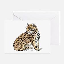 Ocelot Wild Cat Greeting Cards (Pk of 20)