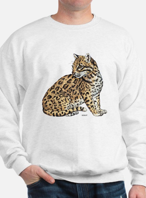 Ocelot Wild Cat Sweatshirt