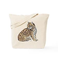 Ocelot Wild Cat Tote Bag