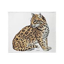 Ocelot Wild Cat Throw Blanket
