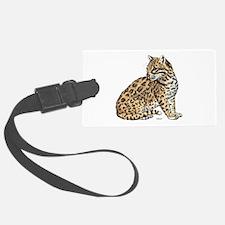 Ocelot Wild Cat Luggage Tag