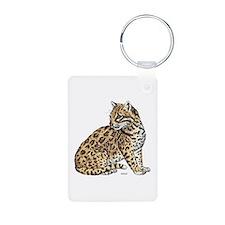 Ocelot Wild Cat Keychains