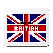 proud to b brit Mousepad