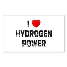 I * Hydrogen Power Rectangle Decal