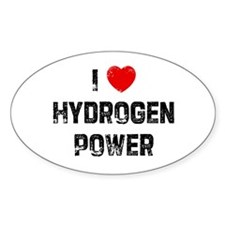 I * Hydrogen Power Oval Decal