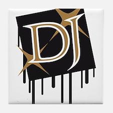 star_dj_grafitti_square Tile Coaster