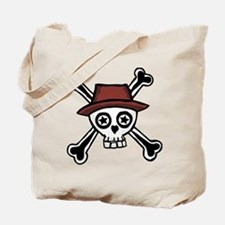 Trendy Cool dude skull head Tote Bag