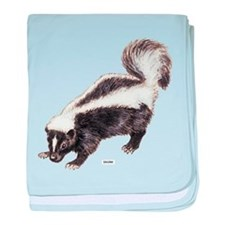 Skunk Animal baby blanket