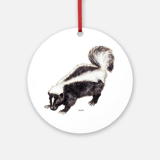Skunk Animal Ornament (Round)