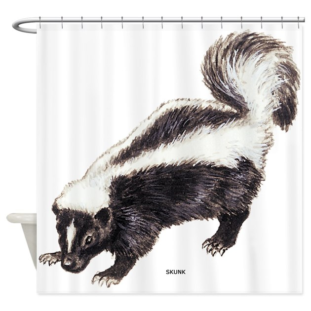 Skunk Animal Shower Curtain By Animalartwork