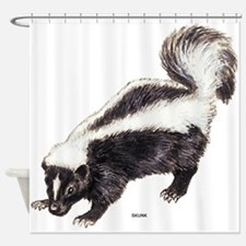 Skunk Animal Shower Curtain
