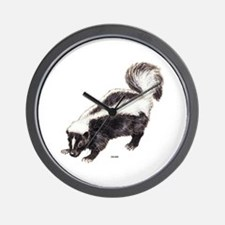 Skunk Animal Wall Clock