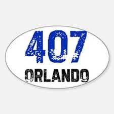 407 Oval Decal