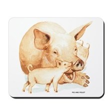 Pig and Piglet Mousepad