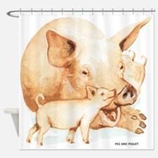 Pig and Piglet Shower Curtain