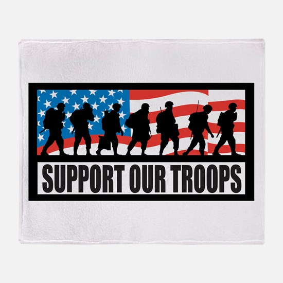 Support our troops - Infantry Throw Blanket