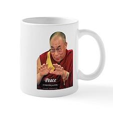 Dalai Lama - Peace - Right Handed - Mug