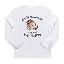 Big Sister - Monkey Face Long Sleeve T-Shirt
