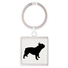 French Bulldog Square Keychain