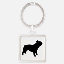 French Bulldog Square Keychain