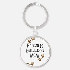 2-french bulldog mom.png Keychains