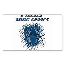 I folded 1000 cranes Decal