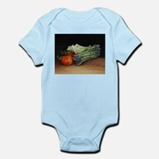 Still Life Tomato Cabbage Asparagus Body Suit
