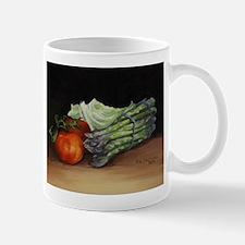 Still Life Tomato Cabbage Asparagus Mug