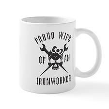 IRONWORKER WIFE LOGO BLACK Small Mug