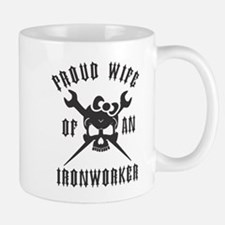 IRONWORKER WIFE LOGO BLACK Small Small Mug